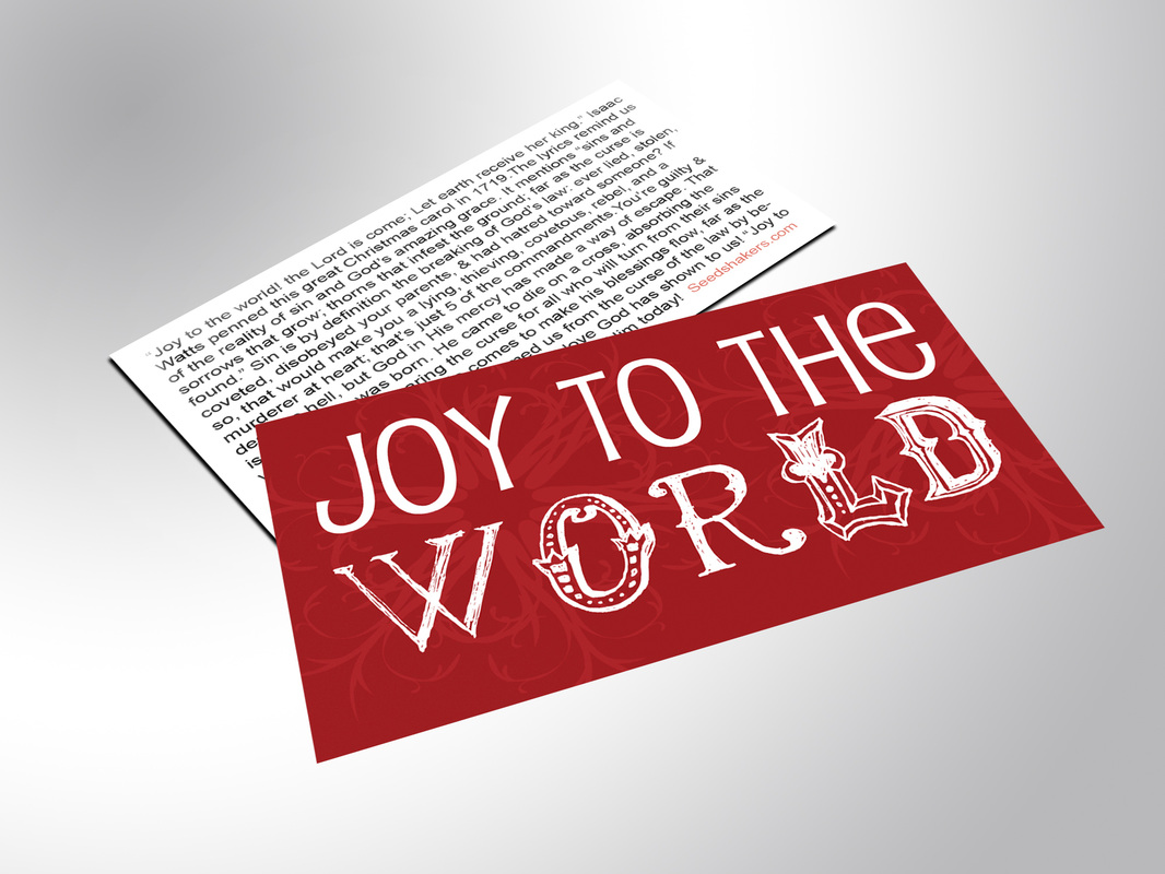 Christmas Gospel Tracts.Joy To The World Gospel Tracts Seedshakers Gospel Tracts