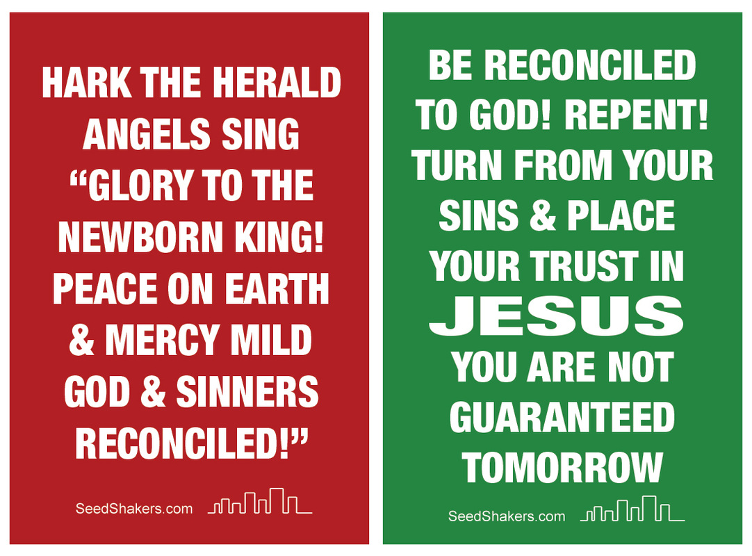 Christmas Gospel Tracts.Hark The Herald Christmas Sign Seedshakers Gospel Tracts